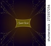 gold spider web frame with... | Shutterstock .eps vector #272557256