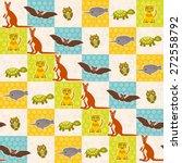 set of funny animals bat turtle ... | Shutterstock .eps vector #272558792