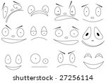 12 faces in vector | Shutterstock .eps vector #27256114