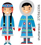 vector illustration of eskimo... | Shutterstock .eps vector #272561336