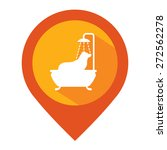 orange map pointer icon with... | Shutterstock . vector #272562278