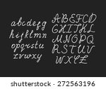 vector hand drawn font | Shutterstock .eps vector #272563196