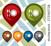 vector   map pointer icon with... | Shutterstock .eps vector #272565728