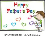 happy father's day card | Shutterstock .eps vector #272566112