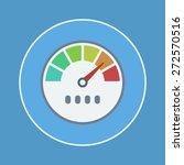 speedometer icon | Shutterstock .eps vector #272570516