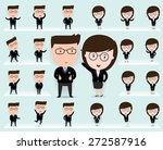 set of businessman and... | Shutterstock .eps vector #272587916