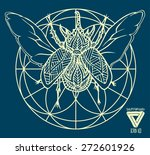 zentangle sacred geometry... | Shutterstock .eps vector #272601926