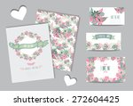 elegant cards with floral... | Shutterstock .eps vector #272604425