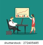 business concept business... | Shutterstock .eps vector #272605685