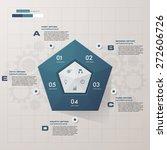 abstract pentagonal...   Shutterstock .eps vector #272606726