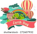 earth day emblem colorful logo... | Shutterstock .eps vector #272607932