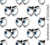 cartoon big blue eyes seamless... | Shutterstock .eps vector #272611562