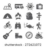 camping icons | Shutterstock . vector #272621072