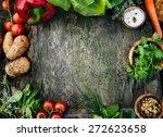 healthy food ingredients... | Shutterstock . vector #272623658