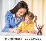 mother and daughter are having... | Shutterstock . vector #272624282