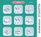 arrows icons in modern style.... | Shutterstock . vector #272635706