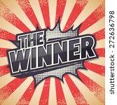 retro poster  the winner ... | Shutterstock .eps vector #272636798