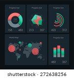infographics elements in modern ... | Shutterstock .eps vector #272638256