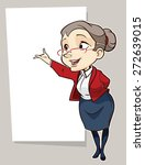 vector drawing of an old lady | Shutterstock .eps vector #272639015