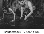 sportsmen. fit male trainer man ... | Shutterstock . vector #272645438