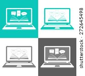 vector set of icons. reading e... | Shutterstock .eps vector #272645498