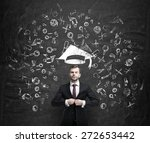 young handsome businessman is... | Shutterstock . vector #272653442