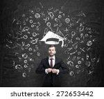 young handsome businessman is... | Shutterstock . vector #272653442