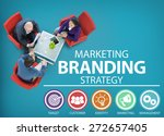 brand branding marketing... | Shutterstock . vector #272657405