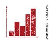 red grunge chart logo on a... | Shutterstock .eps vector #272661848