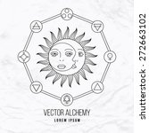 vector geometric alchemy symbol ... | Shutterstock .eps vector #272663102