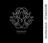 simple and elegant logo design... | Shutterstock .eps vector #272663108