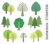 set of trees   vector eps10... | Shutterstock .eps vector #272669336