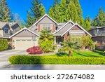 custom built luxury house with... | Shutterstock . vector #272674082