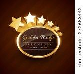 golden badge premium label with ...   Shutterstock .eps vector #272683442