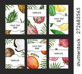 vector colorful card templates... | Shutterstock .eps vector #272683565