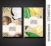 vector vintage card templates... | Shutterstock .eps vector #272683718
