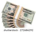 stacks of money. twenty dollars....   Shutterstock . vector #272686292