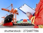 commercial ship loading... | Shutterstock . vector #272687786