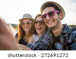 group of happy friends taking... | Shutterstock . vector #272691272