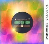 stylish text happy birthday... | Shutterstock .eps vector #272706776