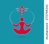 yoga icon. logo template on a... | Shutterstock .eps vector #272709242