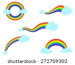 colorful rainbow with cloud... | Shutterstock .eps vector #272709302