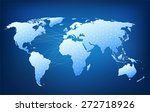 world map with nodes linked by... | Shutterstock .eps vector #272718926