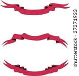 collection of scarlet ribbons | Shutterstock .eps vector #27271933