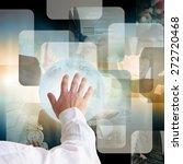 businessman pressing business... | Shutterstock . vector #272720468