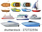 Boat Collection Isolated On...