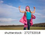 girl power super hero... | Shutterstock . vector #272732018