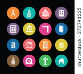 architecture icons vector set | Shutterstock .eps vector #272741225