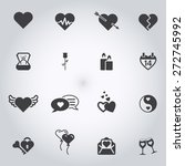 set of love icons | Shutterstock .eps vector #272745992