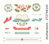 a set of cute design elements... | Shutterstock .eps vector #272746142